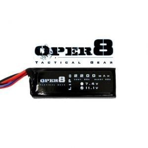 Oper8 11.1v 2200MAH LiPo Block battery