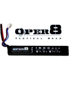 Oper8 7.4v Lipo Stick 1500MAH Mini Tamiya Deans