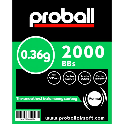 proball 0.36g airsoft bbs 2000