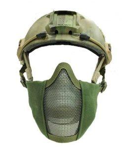oper8 fast helmet slimline mesh mask olive 2