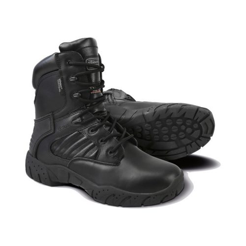 "kombat uk pro tactical boots 8"" black all leather main"
