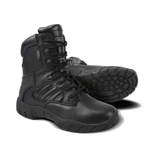"""kombat uk pro tactical boots 8"""" black all leather main"""