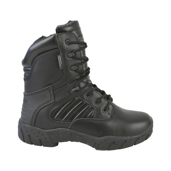 """kombat uk pro tactical boot 8"""" black all leather right"""