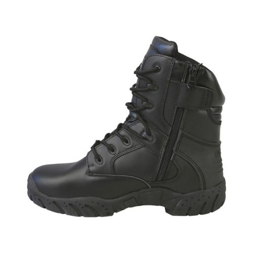 "kombat uk pro tactical boot 8"" black all leather left"