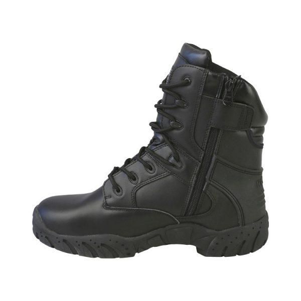 "kombat uk pro tactical boot 8"" black all leather left"