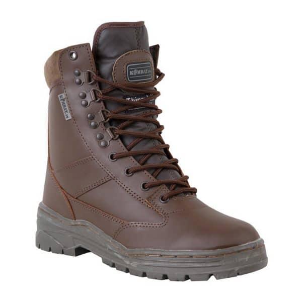 kombat uk leather patrol boot brown single
