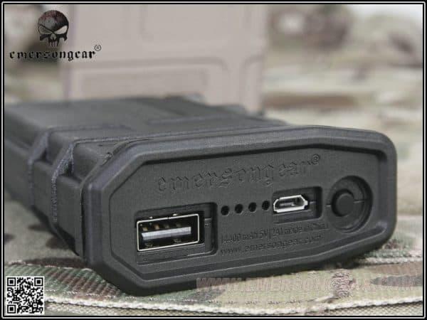 emerson gear pmag usb power bank short - Black 2