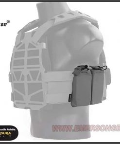 emerson gear double 5.56 pouch for frame plate carrier - black 3