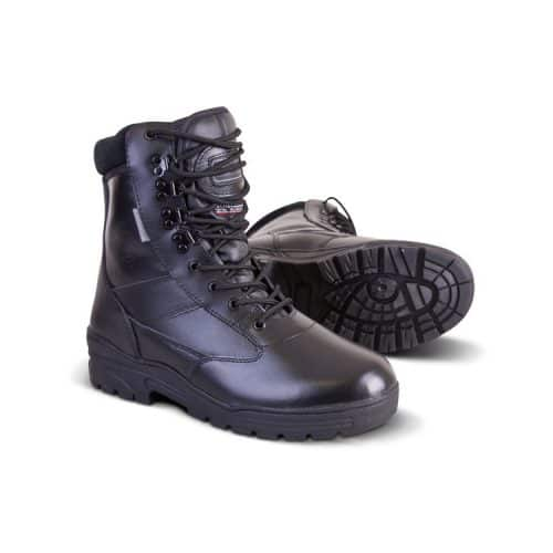 kombat uk leather patrol boot black main