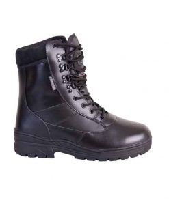 kombat uk leather patrol boot black side