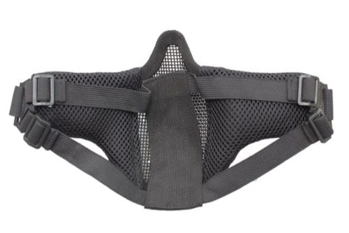 oper8 small slimline lower mesh mask black back
