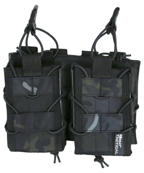 kombat uk double delta multi-calibre magazine pouch btp black