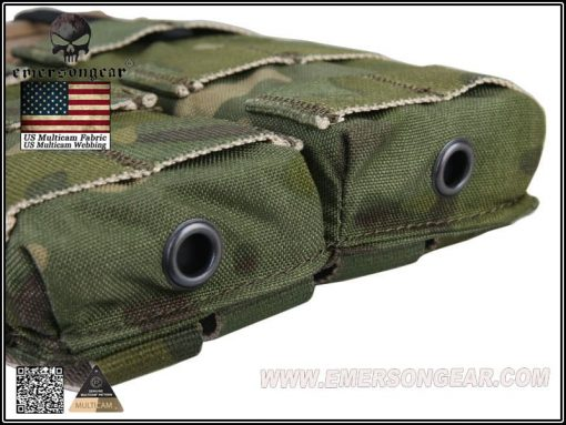 emerson gear double open top 5.56 pouch - multicam tropic 3