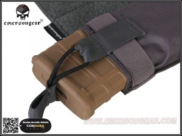emerson gear side-pull back-up magazine pouch - wolf grey 2