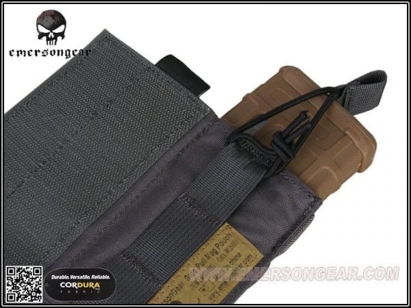 emerson gear side-pull back-up magazine pouch - wolf grey 3