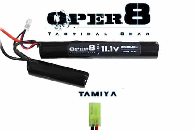 Oper8 11.1v LI-Ion 2500MAH Nunchuck battery - Tamiya