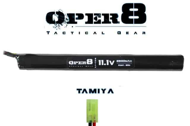 Oper8 11.1V Li-ion 2500MAH Stick Battery - Tamiya