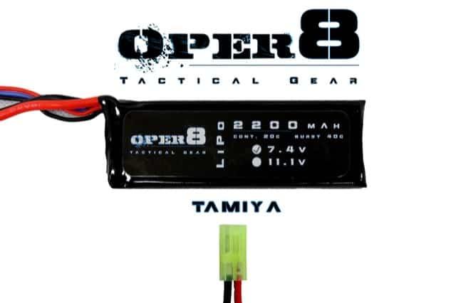 Oper8 7.4v Lipo Block 2200MAH - Tamiya