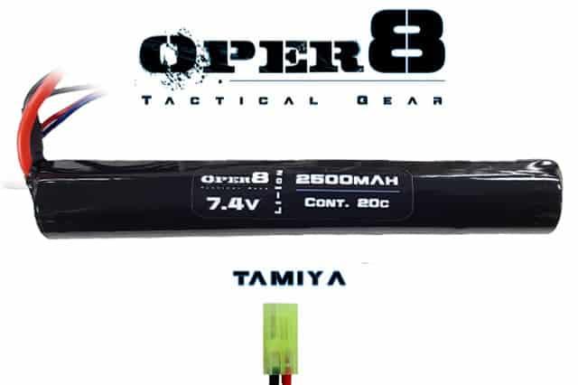 Oper8 7.4V Li-ion 2500MAH Stick Battery - Tamiya