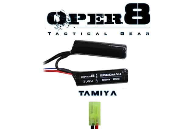 Oper8 7.4V Li-ion 2500MAH Nunchuck Battery - Tamiya