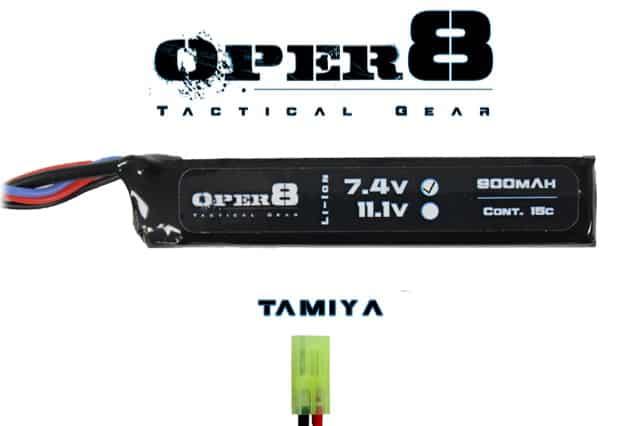 Oper8 7.4V 900MAH Mini Lipo - Tamiya