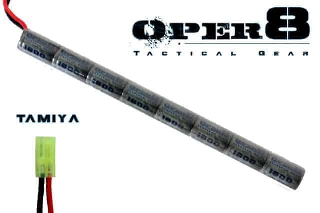Oper8 9.6v 1600MAH Stick battery - Tamiya