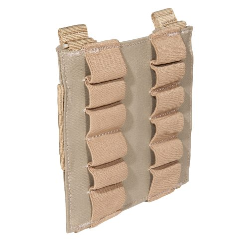 5.11 12rd shotgun shell pouch panel - sandstone