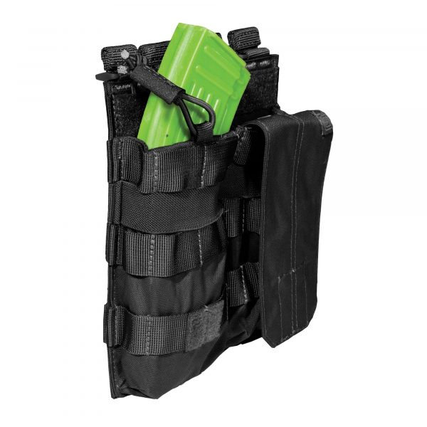 5.11 double ak magazine pouch with bungee - black