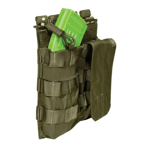 5.11 double ak magazine pouch with bungee - olive