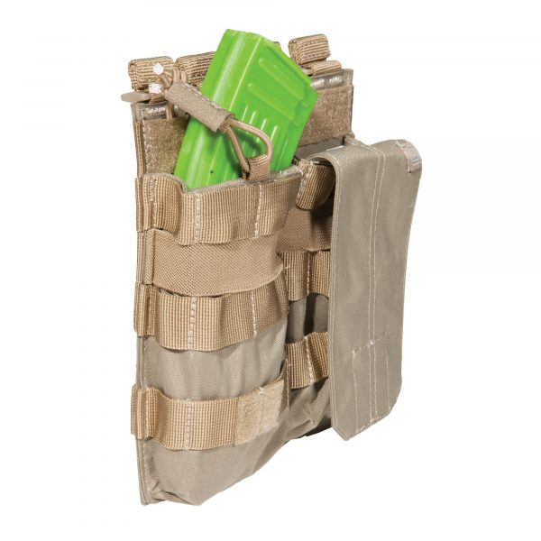 5.11 double ak magazine pouch with bungee - sandstone