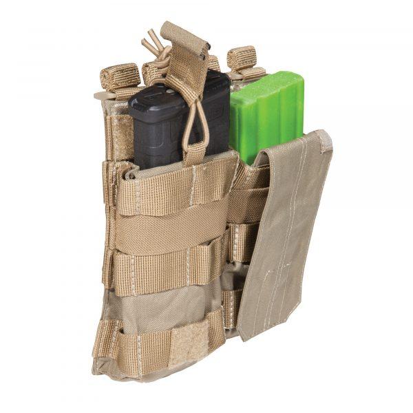 5.11 tactical double ar magazine pouch - sandstone