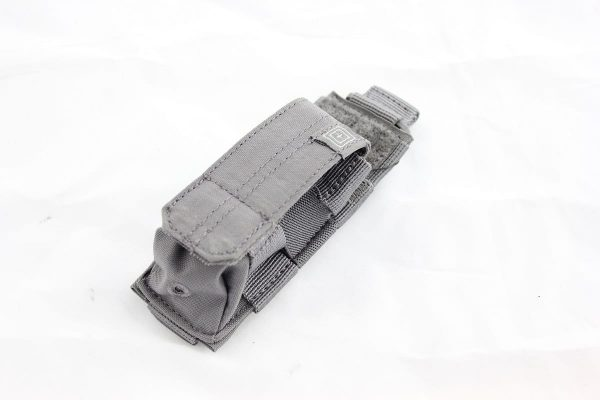 5.11 tactical single pistol magazine pouch - storm grey