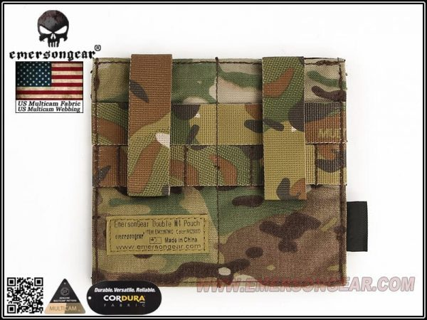 emerson gear double elastic mag pouch - multicam 3
