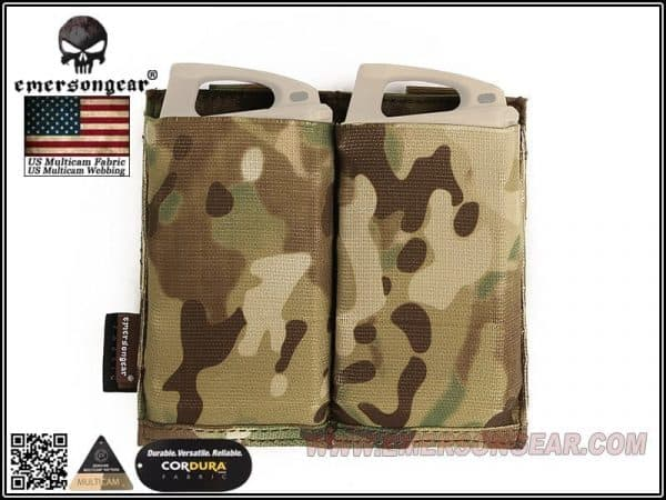 emerson gear double elastic mag pouch - multicam 1