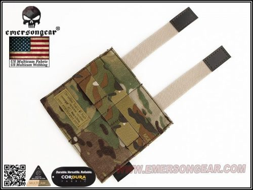 emerson gear double elastic mag pouch - multicam 2