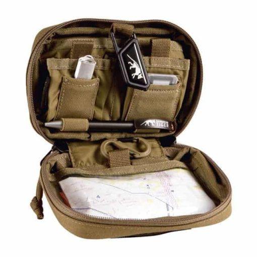 tasmanian tiger admin pouch - khaki open