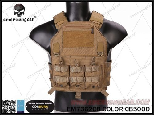 emerson gear 420 plate carrier - coyote brown