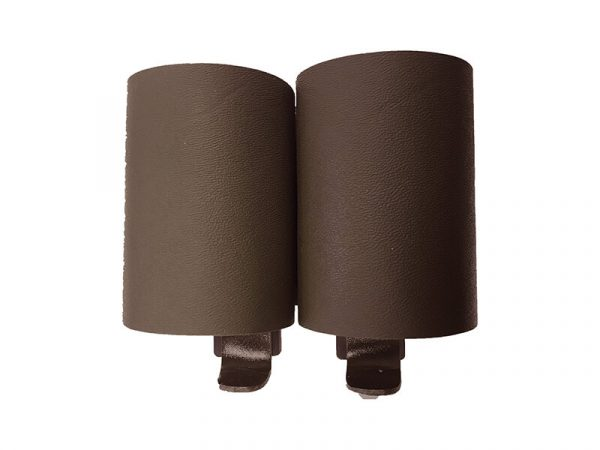 falcon battle systems double 60mm kydex grenade pouch - coyote brown