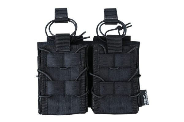 kombat uk double multi-calibre magazine pouch - black