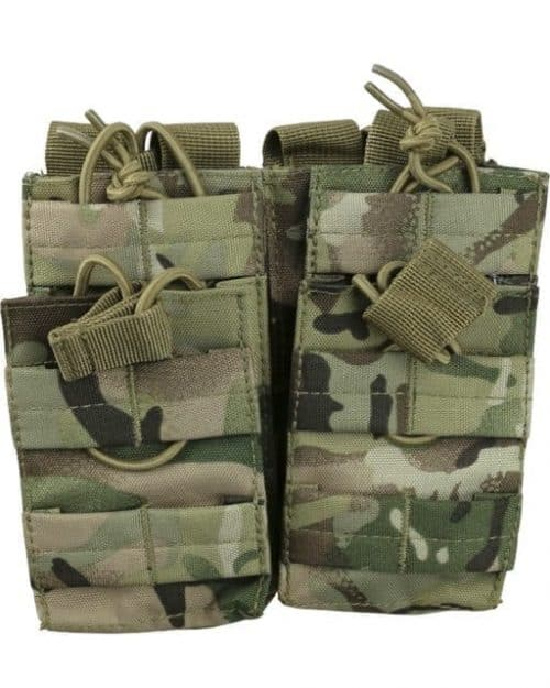 kombat uk double duo m4 magazine pouch - btp