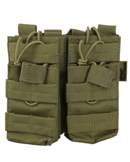 kombat uk double duo m4 magazine pouch - tan