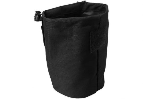 kombat uk folding dump pouch - black open
