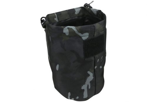 kombat uk folding dump pouch - btp black open