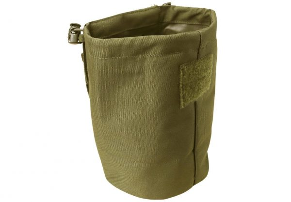 kombat uk folding dump pouch - tan open