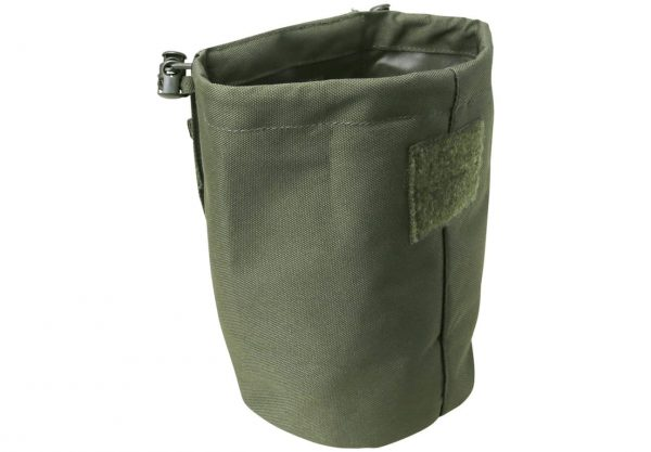 kombat uk folding dump pouch - olive open