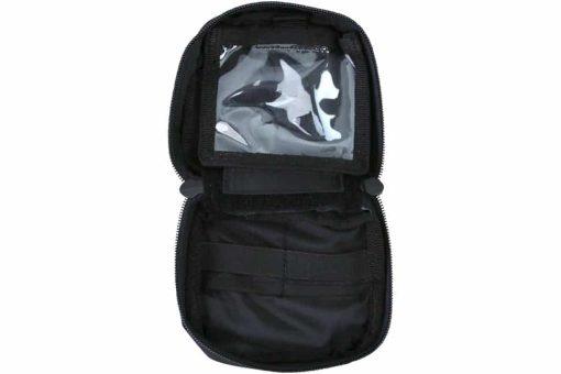 kombat uk mini utility pouch - black open