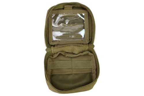 kombat uk mini utility pouch - tan open