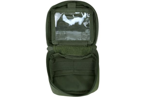 kombat uk mini utility pouch - olive open