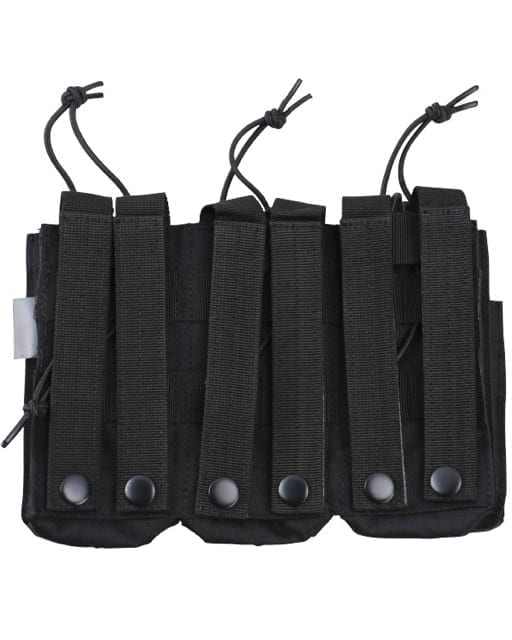 kombat uk triple duo M4 magazine pouch - black rear