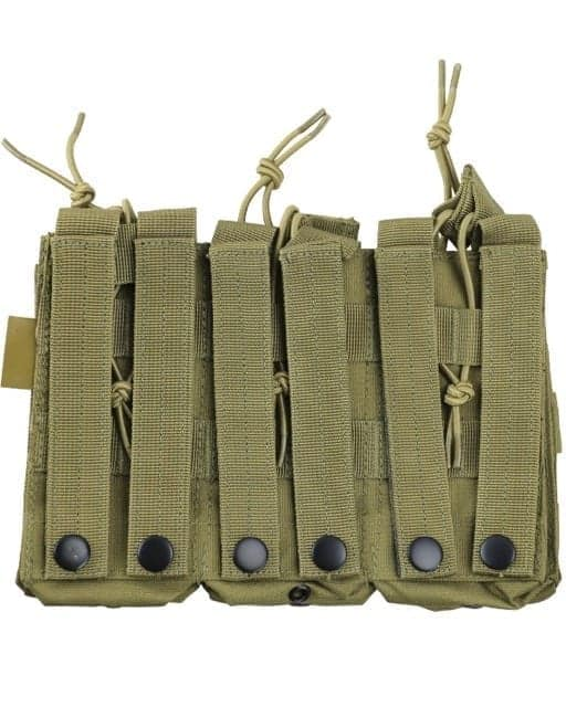 kombat uk triple duo M4 magazine pouch - tan rear